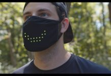 Image of an Electronic Mask by MaskMarket. Featured on Medical Device News Magazine.