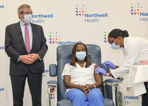 Northwell Health First in the U.S. to administer COVID-19 vaccine